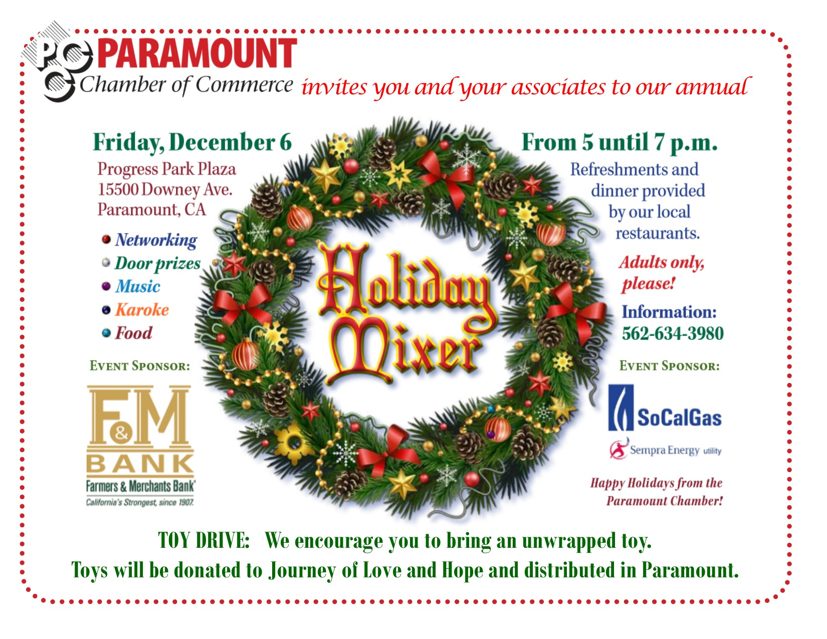 2019 Holiday Mixer Flyer