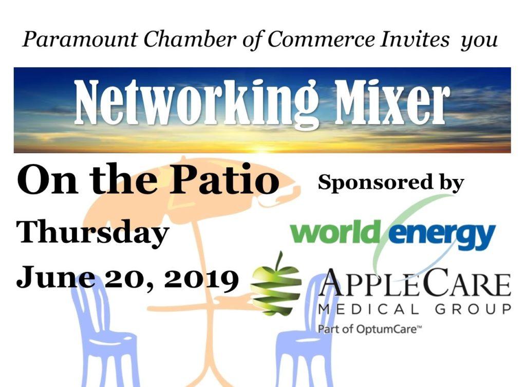 2019 June Mixer - Patio Banner