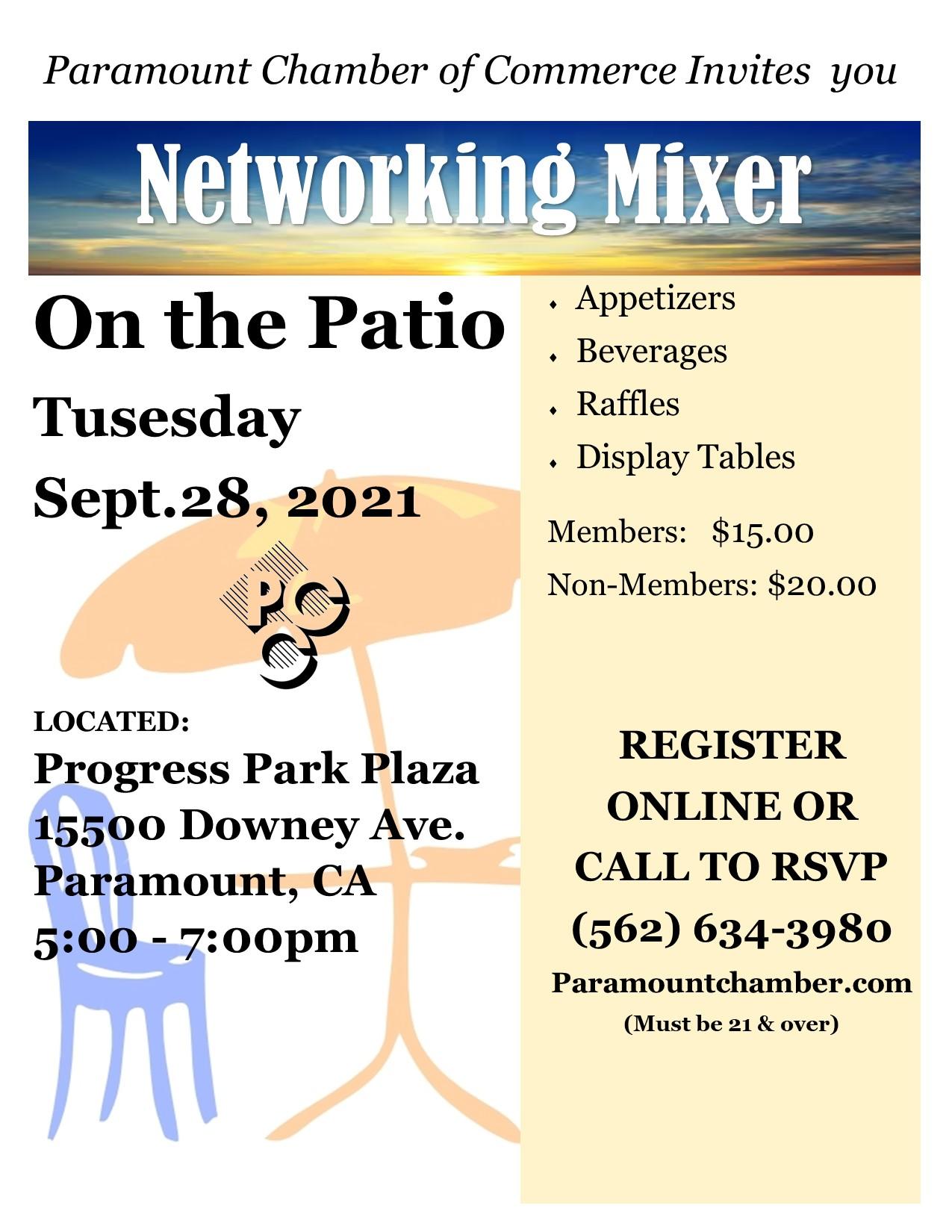 2021 Sept Mixer - Patio