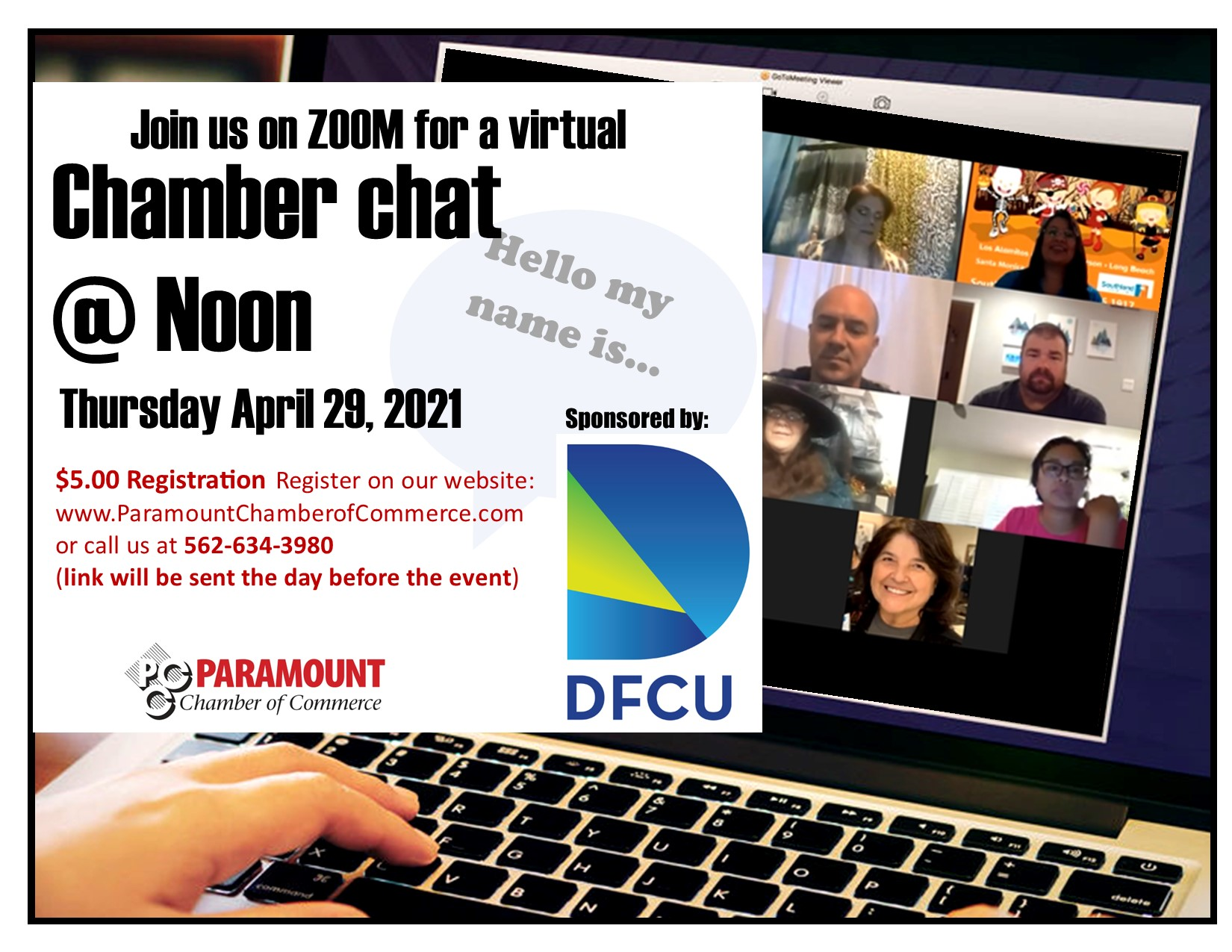 Chamber Chat Lunch APRIL 2021