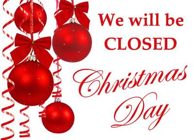 Closed Christmas Slant