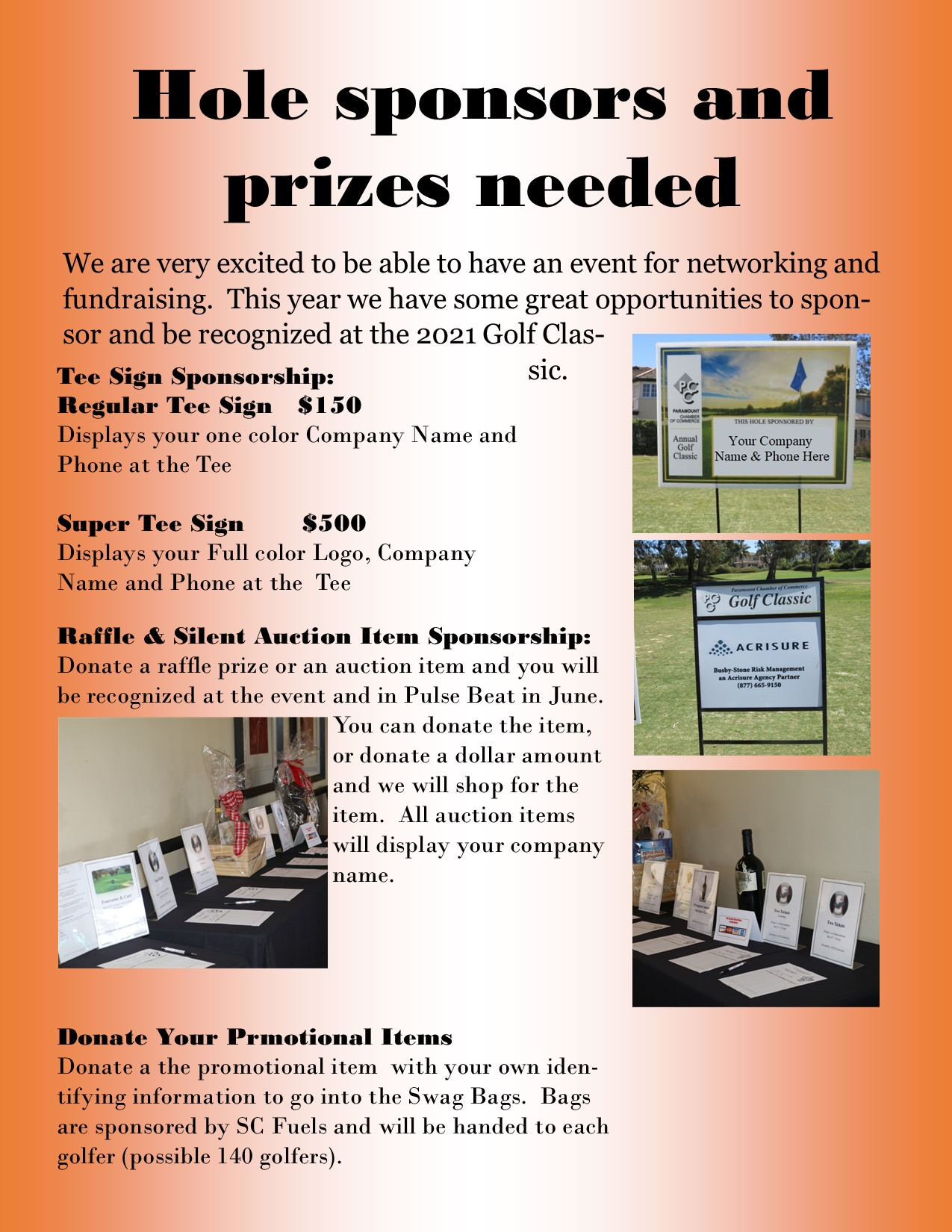 Request for prizes