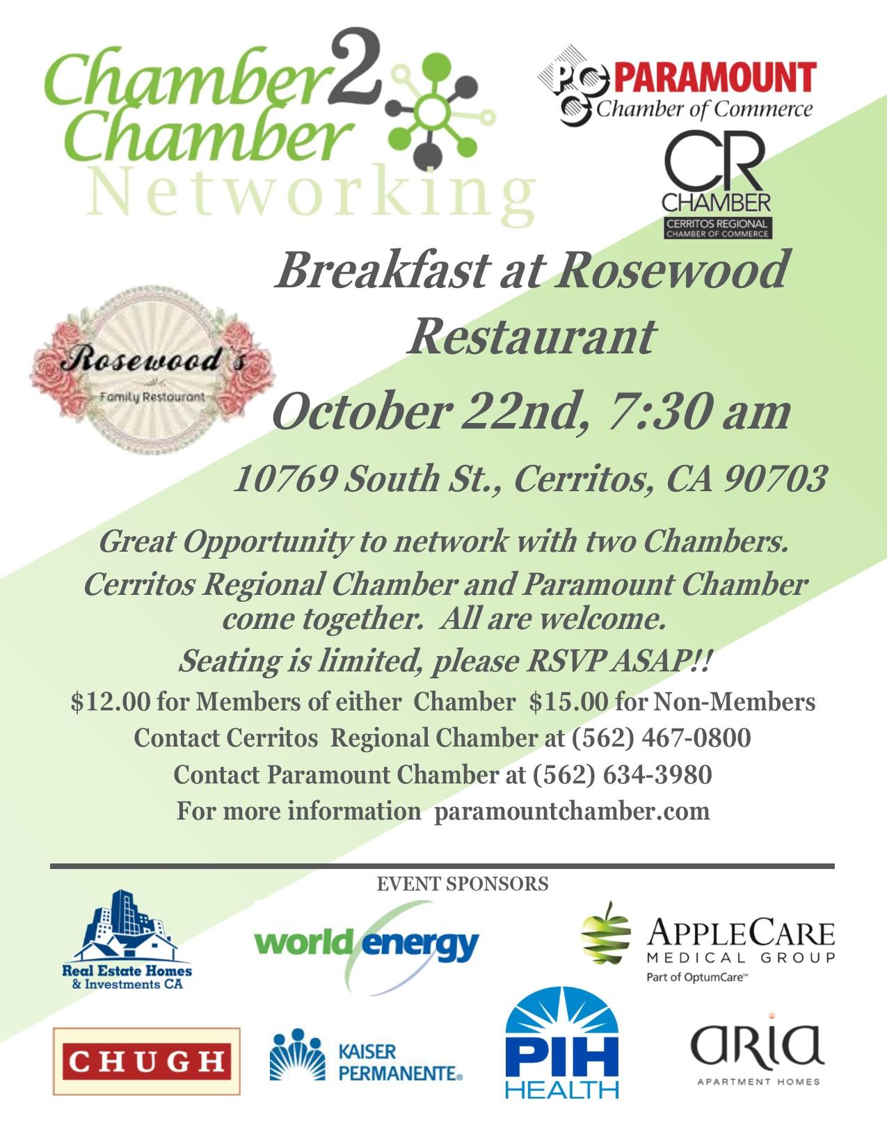 Rosewood Networking Breakfast